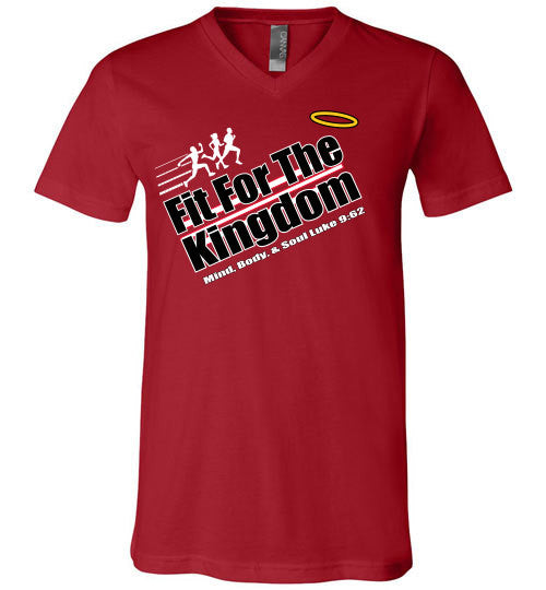 Fit For The Kingdom - A - v-neck - The TeaShirt Co.