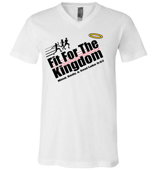 Fit For The Kingdom - B - v-neck - The TeaShirt Co.