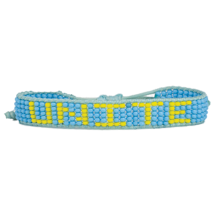 Light Blue / Yellow UNITE Woven Bracelet
