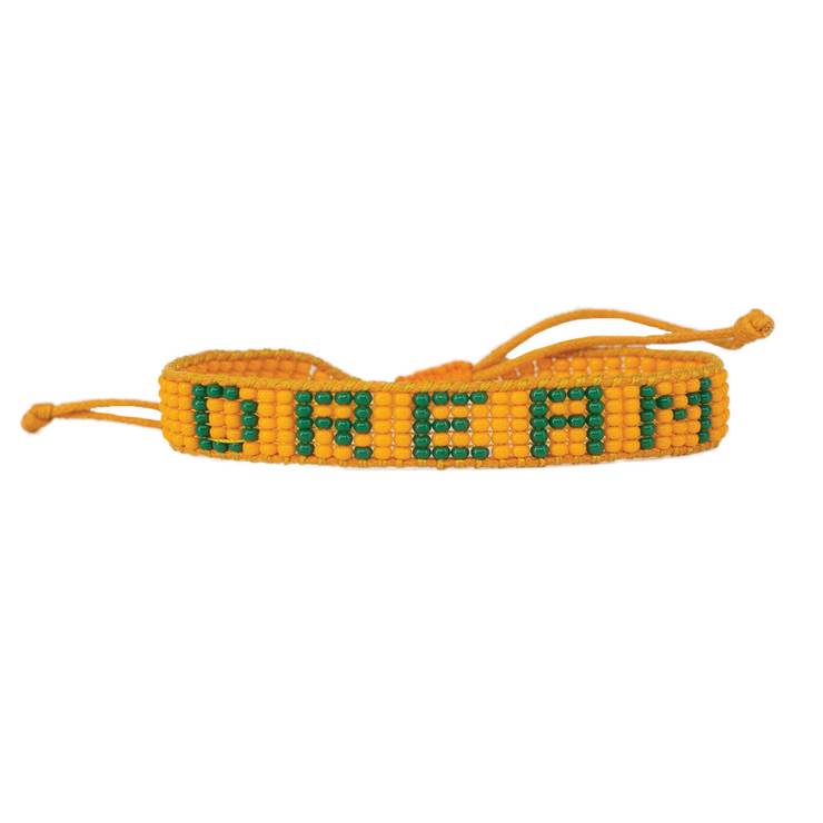 Orange / Green DREAM Woven Bracelet