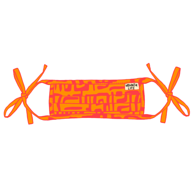 Hot Pink/Orange Kuba Mask