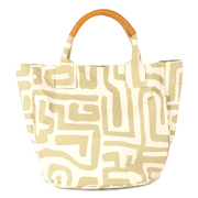 Beach Bag in Sand & Eggshell