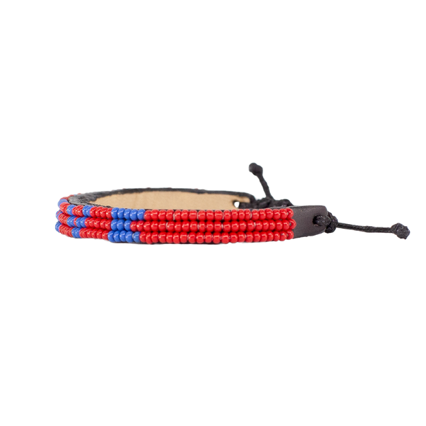 Red and Blue Skinny LOVE Bracelet