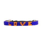 Blue and Orange Skinny LOVE Bracelet