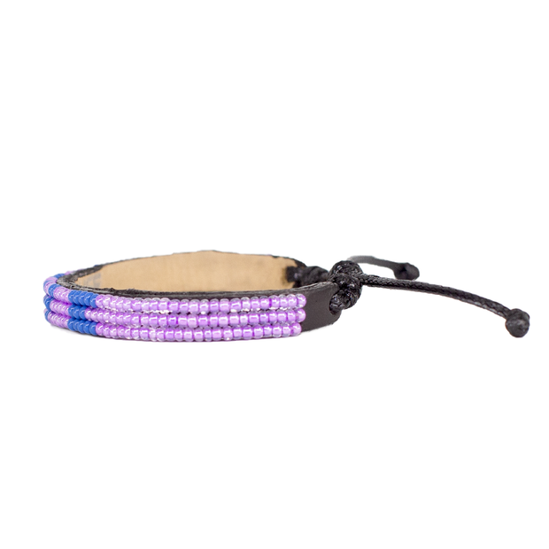 Pearl Purple and Blue Skinny LOVE Bracelet