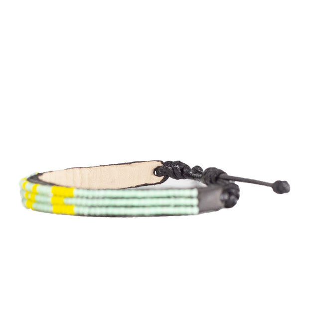 Mint / Yellow Skinny LOVE Bracelet
