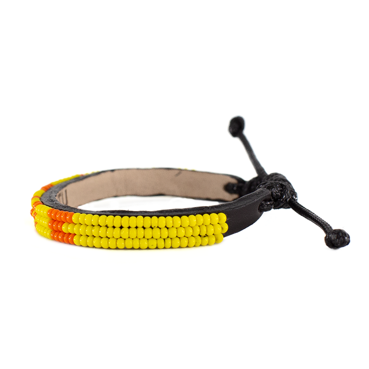 Bright Yellow and Orange Skinny LOVE Bracelet