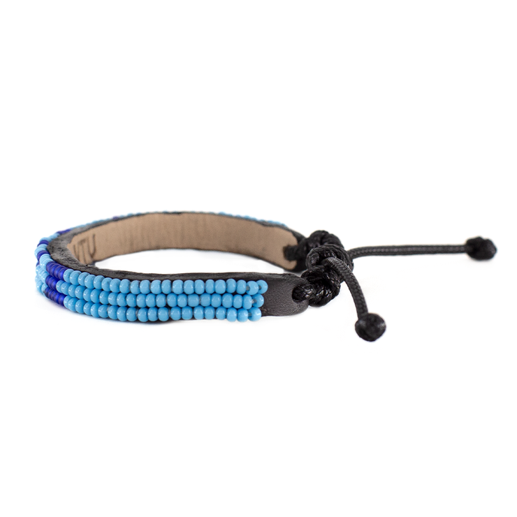 Light Blue and Navy Skinny LOVE Bracelet