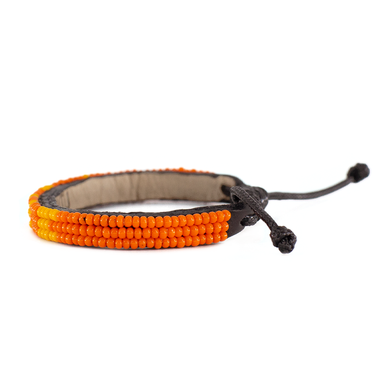 Deep Orange and Light Orange Skinny LOVE Bracelet
