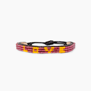 Burgundy / Yellow Skinny LOVE Bracelet