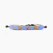 Medium Blue / Gold Skinny LOVE Bracelet
