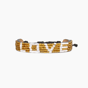Gold and White LOVE Bracelet
