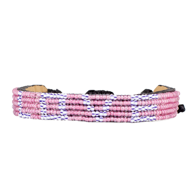 Pink and Silver LOVE Bracelet