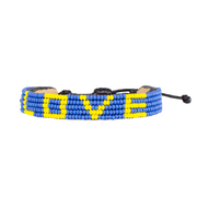 Blue and Yellow LOVE Bracelet