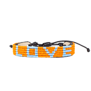 Orange and Light Blue LOVE Bracelet