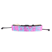 Pink and Light Blue LOVE Bracelet