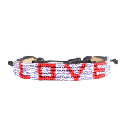 Striped / Red LOVE Bracelet