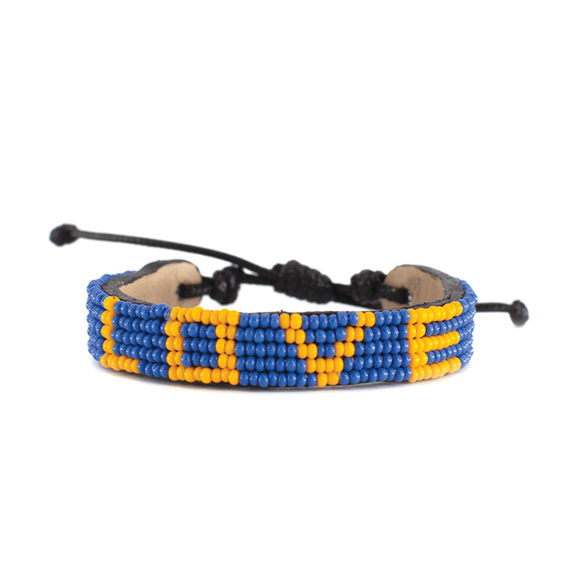 Medium Blue and Light Orange LOVE Bracelet
