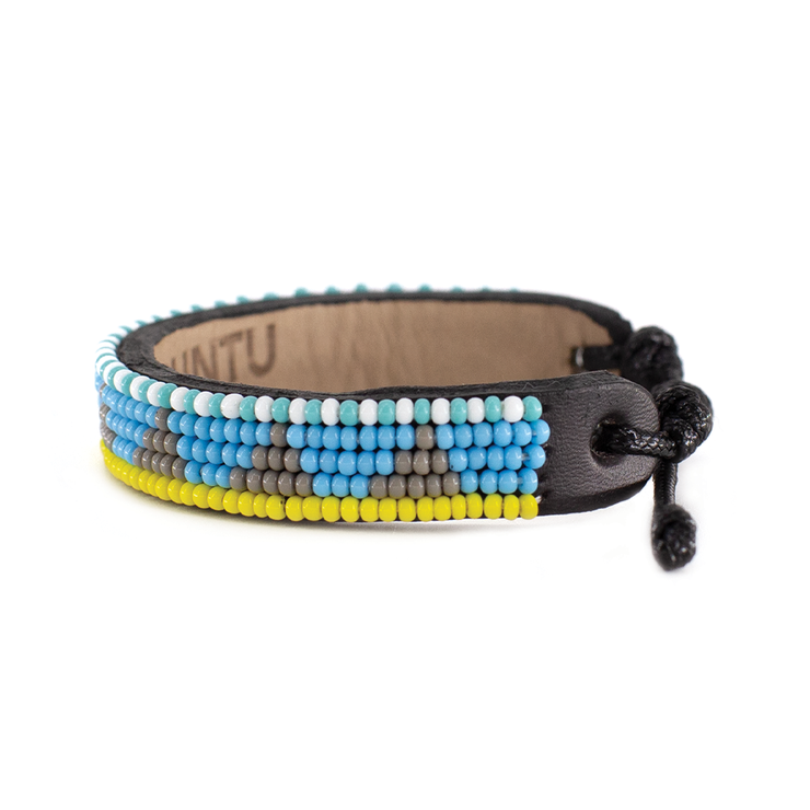 Light Blue and Grey Piramidi Bracelet