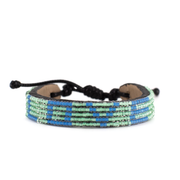 Iridescent Turquoise and Sea Blue LOVE Bracelet