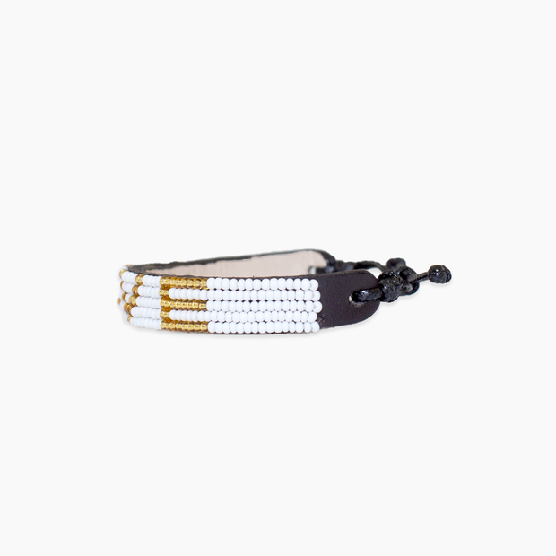 White / Gold LOVE Bracelet