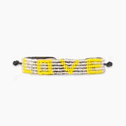 Silver / Yellow LOVE Bracelet