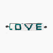 White / Green LOVE Bracelet
