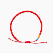 Single Strand Beaded Bracelet - Red