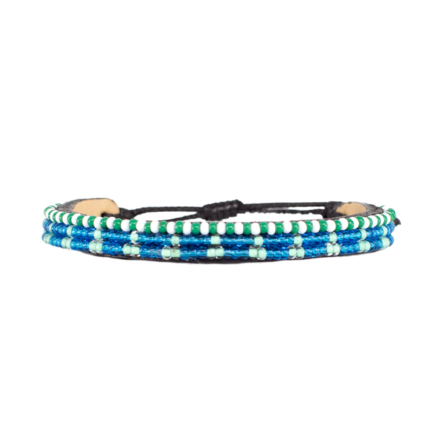 Medium Blue and Turquoise Skinny Uzuri Bracelet