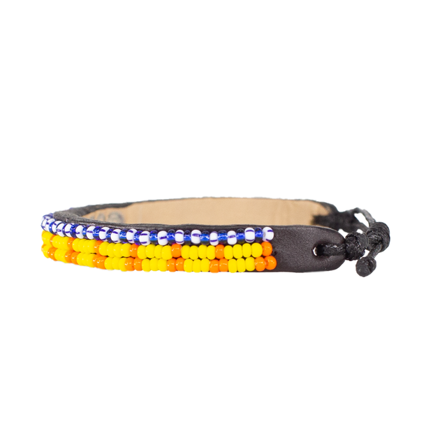 Yellow and Orange Skinny Uzuri Bracelet