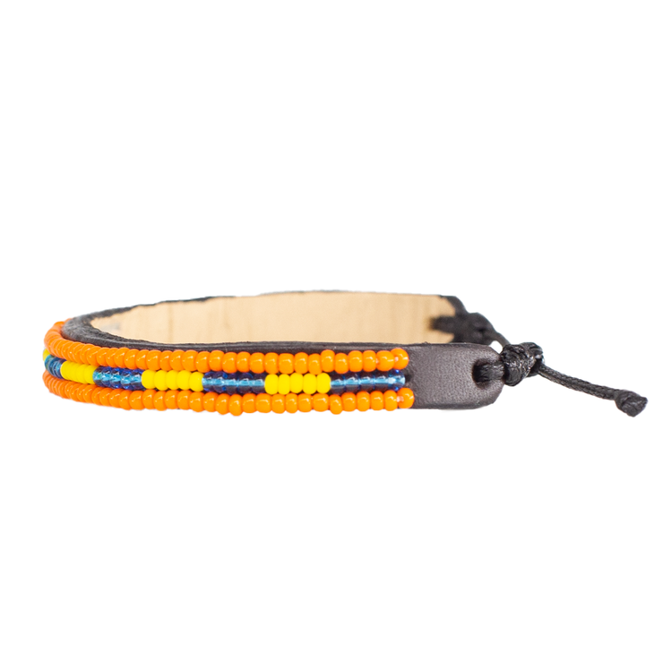 Orange / Yellow & Blue Nija Bracelet