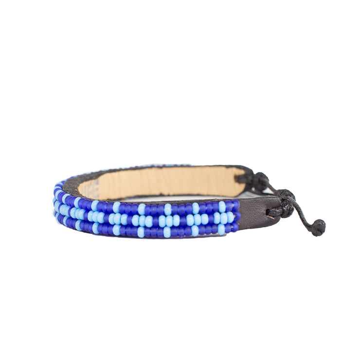Dark Blue / Light Blue Msalaba Bracelet