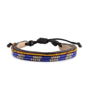 Translucent Blue and Grey Skinny Mstari Bracelet