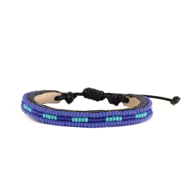 Medium Blue and Turquoise Nija Bracelet