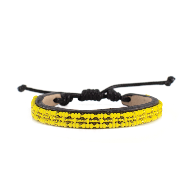 Yellow and Translucent Gold Msalaba Bracelet