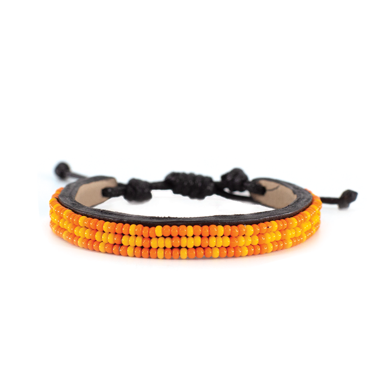 Deep Orange and Light Orange Msalaba Bracelet