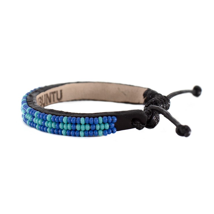 Medium Blue and Turquoise Msalaba Bracelet