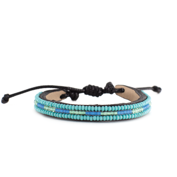 Turquoise and Light Blue Nija Bracelet