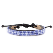 Periwinkle and Pale Blue Msalaba Tribal Bracelet