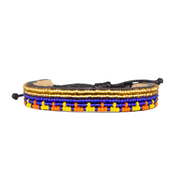 Blue / Yellow & Orange Uzuri Bracelet