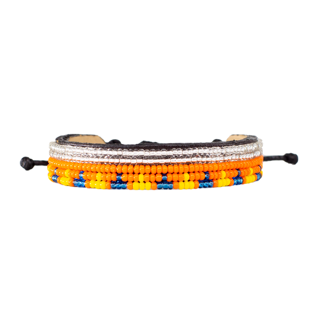 Orange, Yellow & Blue Uzuri Bracelet
