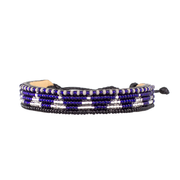 Dark Blue and Silver Piramidi Bracelet