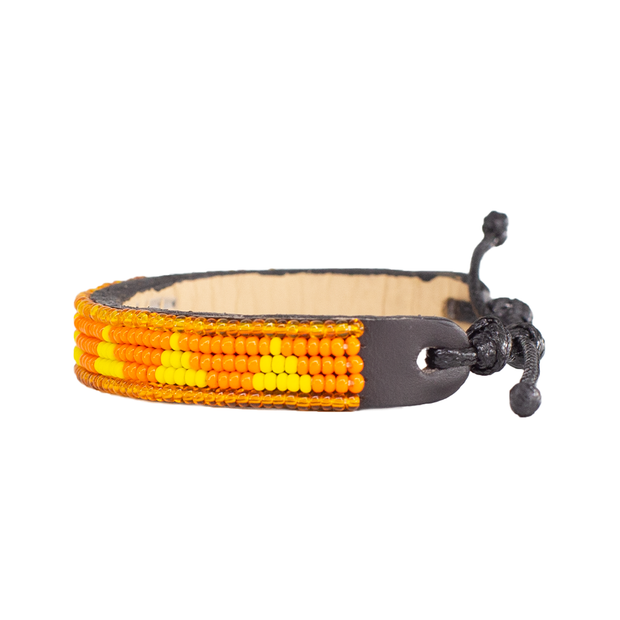 Orange and Yellow Piramidi Bracelet