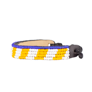 Yellow and White Mstari Bracelet