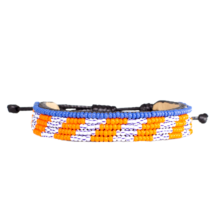 Orange and Stripe Mstari Bracelet