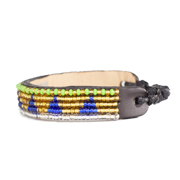 Gold / Navy Piramidi Bracelet