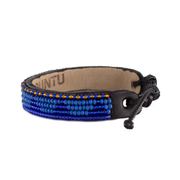 Medium Blue and Translucent Blue Piramidi Bracelet