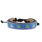 Sea Blue and Iridescent Turquoise Piramidi Bracelet