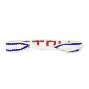 White / Red VOTE Woven Bracelet