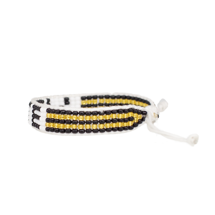 White / Black VOTE Woven Bracelet